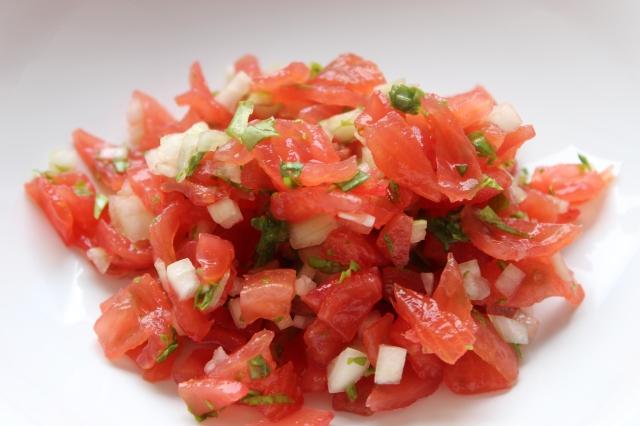Tomaten Salat für Bruscetta